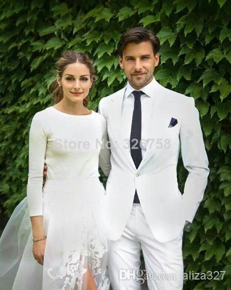 Grooms Suits Beach Weddings Groom Tuxedo Suit Men Beach
