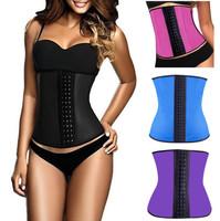 corset latex waist cincher latex waist trainer waist training corsets latex corset corselet corpetes e espartilhos corpete C699