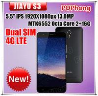"F IN STOCK Original JIAYU S3 MT6752 Octa Core 3G RAM 16G ROM 5.5"" 1920*1080 Gorila 3 4G Dual sim Android 4.4 Mobile phone"