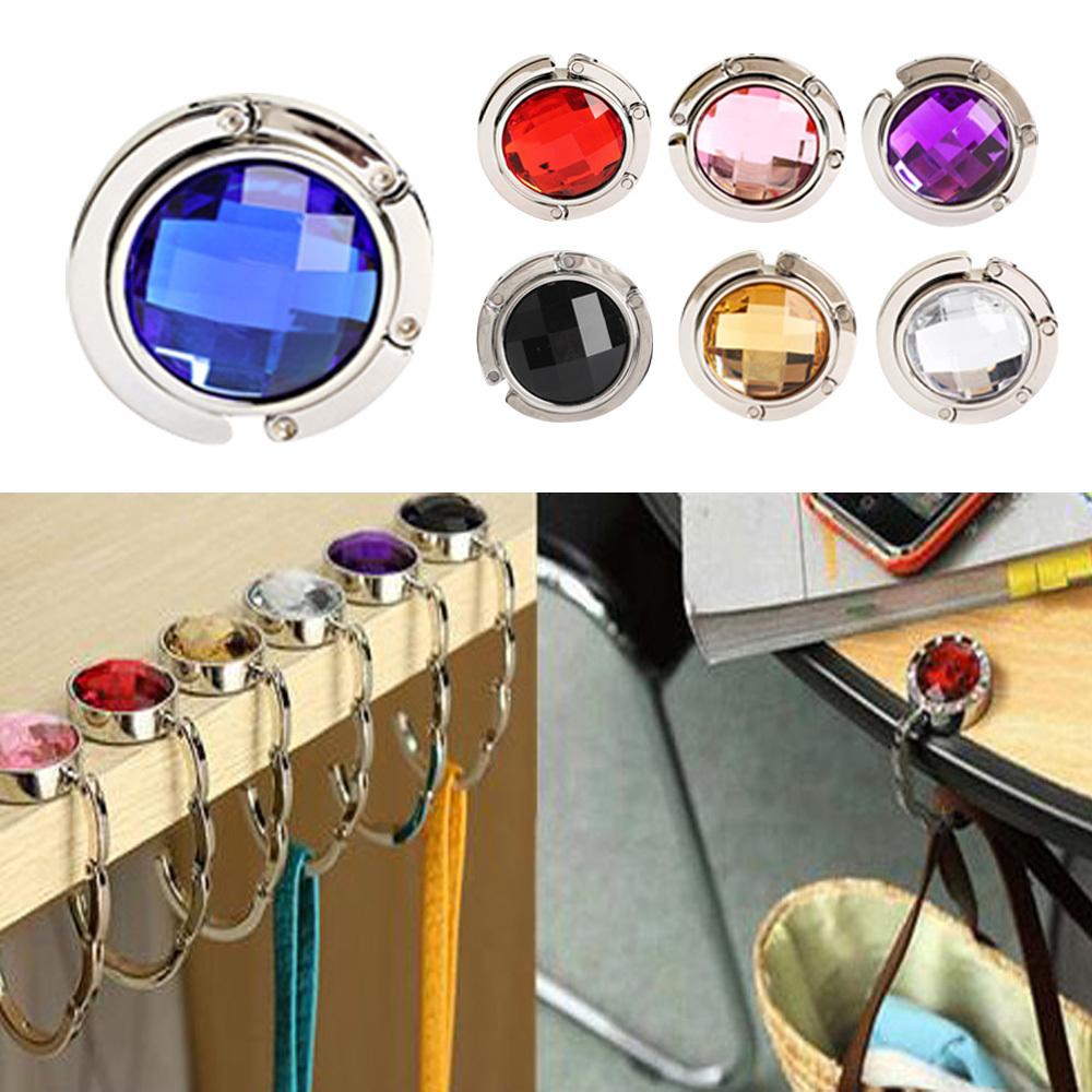 Exquisite Folded Handbag Tote Hook Hanger Holder Elegant Alloy Crystal Rhinestone NVIE(China (Mainland))