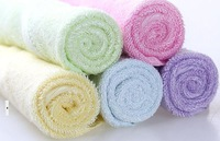 100% bamboo fiber towel soft feel for baby use 26*26cm 25gram 50 piece per lot