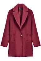 OASAP New Casacos Femininos Women Long Sleeves Divine One Button Woolen Coat Casaco De Inverno Feminina