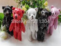 30pcs PU teddy bears,cartoon animal bear bouquet,wedding Birthday gift pendant,key chain/ring for school bag boys girls friends