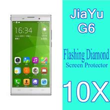 JIAYU G6 Phone Diamond Sparkling Protective Film,5.7″inch Octa Core mobile phone Jiayu G6 Screen Protector 10pcs+Free shipping