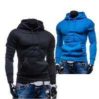 2015 Spring Autumn Men's Hoodies Solid color Sports Casual New pullover coats 6 colors Men clothes