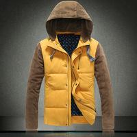 2015 Delicate Design Man casual Warm Coats Plus Size M-3XL 3 Good Quality Patchwork Men Winter Fashion Outdoor Down Jackets