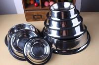 Free Shipping Wholesale Easy to Wash Polished Stainless Steel Dog Bowl Antislip Bottom Tcesoho DB003