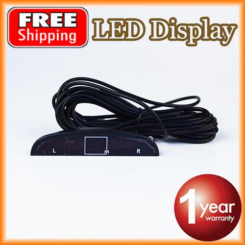 Из светодиодов дисплей для автомобиля датчик парковки комплект подсветка обратный резервного копирования монитор система 12 В бесплатная доставка