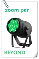 super bright led 7 * 4 in 1 mini zoom par