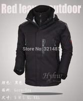Brand 2014 Men's Winter Outdoor Jackets 2in1 Waterproof Jacket +Detachable Fleece Coats Climbing Skiing Ski Jackets Windbreaker