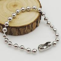 Rock Biker Style Men Stainless Steel Beads Bracelets Metal Jewelry 22cm 6mm Fashion Accessory Gift Free Shipping