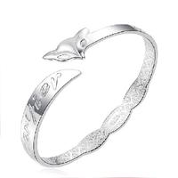 999 fine silver bracelet fashion personality vintage women's fox bracelet hand ring