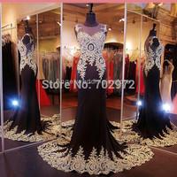 2015 Formal Fishtail Mermaid Elegant Long Party Evening Dress Prom Gown Women Back corss Vestidos de Gala Dress