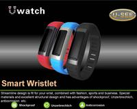 5pcs/lot New U9 U See U Watch Bluetooth Smart Bracelet Wristlet Pedometer Sleep Monitoring Find Phone Camera for iPhone Samsung
