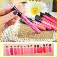 12pcs/lot Make Up Lipgloss Velvet Matte Waterproof Lip Gloss Lipstick 36 Colors for Optional
