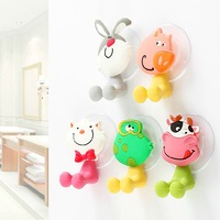 Cute cartoon animal family powerful suction toothpaste toothbrush style optional cartoon toothbrush holder