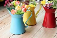 Metal flower vase home decoration tabletop flower pots planters wrought vintage finish