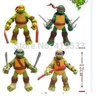 Free Shipping NEW HOT 20 pieces/set 13cm Anime Cartoon TMNT Teenage Mutant Ninja Turtles PVC Toy Action Figure Toys Dolls