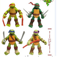 Free Shipping NEW HOT DHL60 pieces/LOT 13cm Anime Cartoon TMNT Teenage Mutant Ninja Turtles PVC Toy Action Figure Toys Dolls
