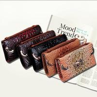 New 2015 Women fashion Crocodile pattern long style wallets purse handbags women's shoulder bags carteira feminina P66