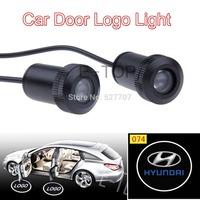 2 X Door Logo Light Car Vehicle LED Courtesy Shadow Welcome Logo Light Ghost LED For HYUNDAI