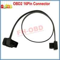 2015 5PCS/Lot Flat Thin As Noodle OBD2 OBD 16Pin 16 Pin ELM327 Male To Female Extension Transfer Cable Light High Quality
