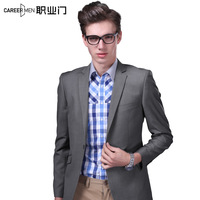 2014 autumn and winter suit jacket blazer slim male business casual fashion