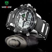 Free Shipping WEIDE Luxury Brand Men Sports Watch 3ATM Waterproof Multifunction Quartz Digital LED Backlight Military Watches