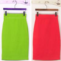 2015 New Spring summer Womans package hip skirt elastic bottoming Slim bust Skirt For Woman