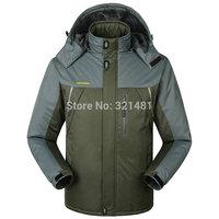 Big size 8XL 9XL 2015 New brand spring winter hiking camping jacket men outdoor skiing jacket mens coat & jackets Free shipping