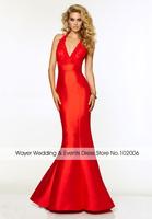 Fashion Mermaid Long Prom Dresses To Party Appliques Beading Red/Black Prom Dress Robe De Soiree Vestidos Para Formatura 2015