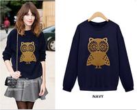 TUCW15004 New 2014 Women Hoodies Fashion Fleece Pullovers for Women Autumn Coat Long Sleeve Sweatshirts for Lady Hoody Loose