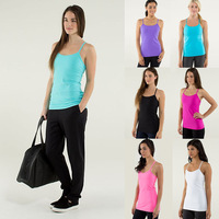 Luon Gym top size:2-12 Hot Brand Women Sport Vest Camis Fashion Sport Tank Tops Tees Sportswear Best Discount physical training