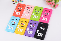 Colorful Cartoon Rainbow Bean Finger MM Case cover Candy Soft Silicon case For iPhone 6 iphone 6 plus 5.5 rubber silicone Cover