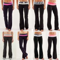 Free Shipping 2015 new style Wholesale retail Luon Sport pants Cheap Women's Gym clothing flare pants Harem Trousers Size XXS-XL