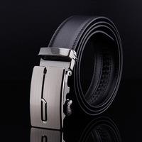 2015 Men's genuine leather belt buckle belt automatic alloy fashion casual belt 0014