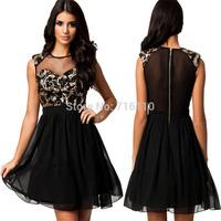 2015 New fashion casual women's lace dress Vestido Moda Patry sexy dress work dress European Style Slim dress