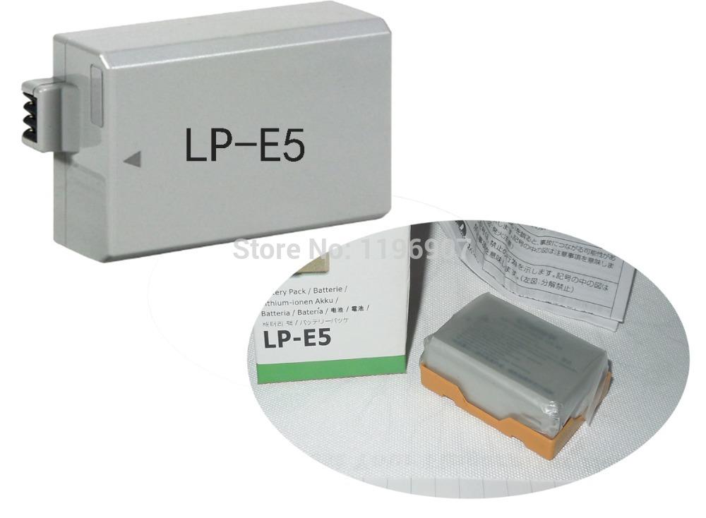 LP-E5 Rechargeable Batteries Li ion LP E5 LPE5 Camera Battery For Canon EOS 450D 500D 1000D KISSX2 KISSX3 KISS X2 X3(China (Mainland))