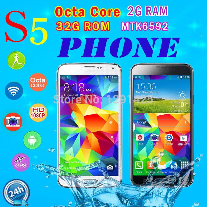 Waterproof S5 Phone MTK6595 MTK6592 Octa Core RAM 2G MTK6582 Quad Core Fingerprint 16MP 3G 5