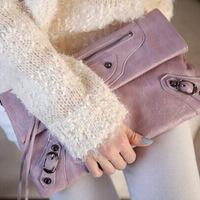 BRIGGS Designer handbags High Quality PU Leather Ladies Envelope Rivet Day Clutches Bag Fashion Tassel Handbags For Women