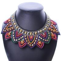 2015 New Vintage Wholesales Fashion Bohemian Style Jewelry Elegant  Choker Necklace Multi Layer Necklace