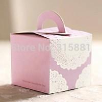 Purple lace Pink Hand Cake Box,Gift Packaging Box