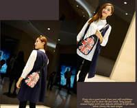 Brand Fashion Design Printing Chest Bag Shoulder Bag Personality Unsex Sport Bag Black High Quality PU Leather Wallet Bolsa 755e