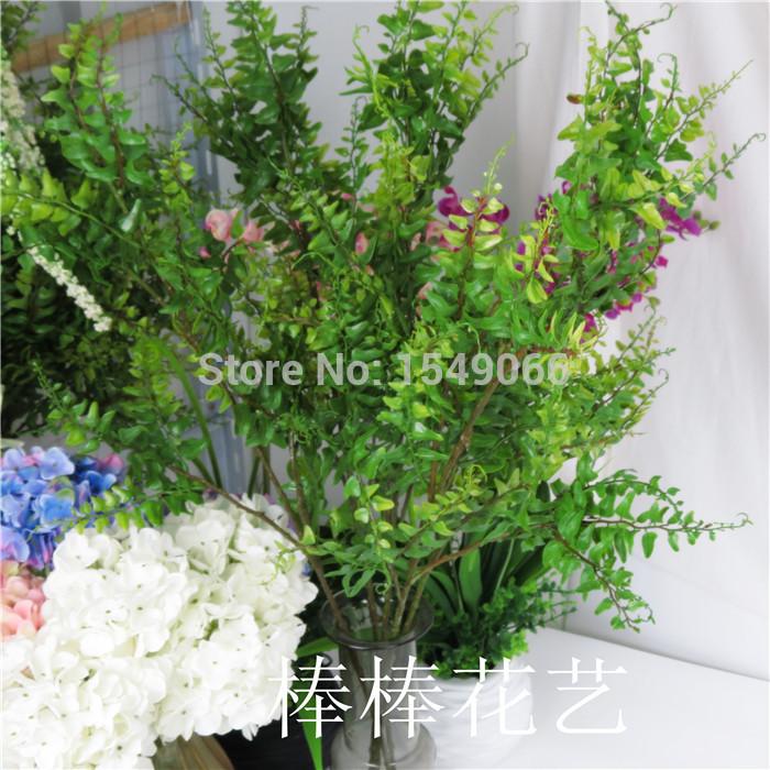 Simulation 3 angle Stella export plant tree leaf silk flower artificial flowers/ ikeba(China (Mainland))