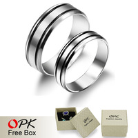 OPK Fashion Lovers' Engagement Rings Romantic Full 316L Stainless Steel Women/Men Jewelry Valentine's Day Gift GJ452
