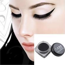 Newest Black Beauty Cosmetic Waterproof Eye Liner Eyeliner Shadow Gel Makeup + Brush#M01205