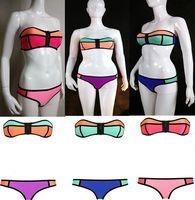 Sexy Women's Push Up Padded Zipper Bra Bikini Set fashion Swimwear Swimsuit