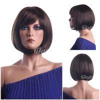 High Quality Fashion Wigs Straight Bobo Short Hair Dark Brown Women Lady Girl Synthetic 100% KANEKALON Hairpiece W3302
