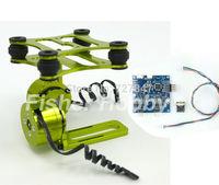 CNC Metal Brushless Gimbal Frame(green ) W/ Motors & Flight controller  for DJI Phantom Gopro 2 3