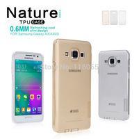 NILLKIN Ultra Thin Transparent Nature TPU Case For Samsung Galaxy A3 A300 0.6mm Clear TPU Cover For Samsung Galaxy A3 A300 N01